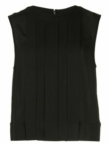 Olivia Palermo pleated tank top - Black