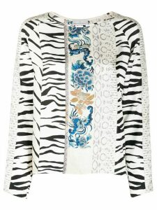 Pierre-Louis Mascia patchwork-print silk blouse - NEUTRALS