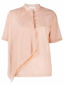 Fabiana Filippi layered mandarin collar shirt - NEUTRALS