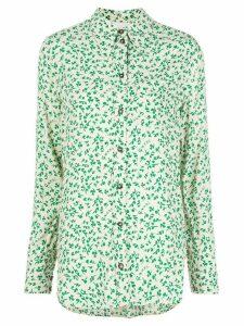 GANNI swirl print shirt - White