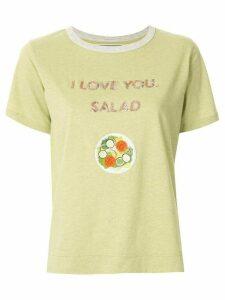 Tu es mon TRÉSOR 'I love you. salad' sequined T-shirt - Green