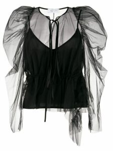 Act N°1 ruffle top - Black