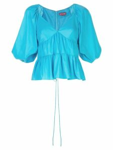 Staud cropped sleeve tiered top - Blue
