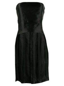 Ann Demeulemeester fitted curved hem bustier top - Black