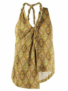 Nanushka textured asymmetric top - Brown