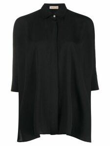 Blanca Vita Carlotta spread-collar shirt - Black