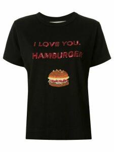 Tu es mon TRÉSOR slogan print T-shirt - Black