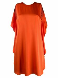 Stella McCartney draped-back sleeveless dress - ORANGE