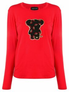Emporio Armani bear print T-shirt - Red