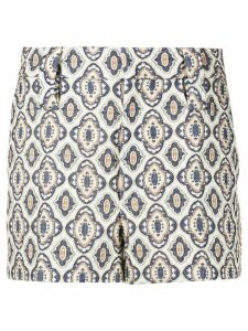 Prada jacquard geometric shorts - White