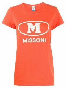 M Missoni logo print T-shirt - ORANGE