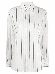 Maison Margiela jacquard-woven striped shirt - White