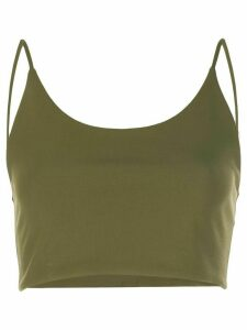 Alice+Olivia Penny cropped top - Green