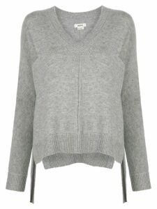 Jason Wu piped seam v-neck jumper - Grey