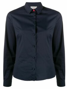 Peuterey contrasting button slim-fit shirt - Blue