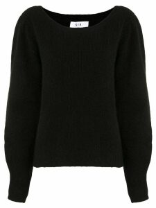 Sir. Ava boat neck jumper - Black
