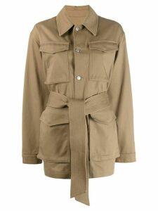 Ami Paris Woman Patch Pockets Jacket - NEUTRALS