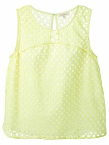 P.A.R.O.S.H. broderie anglaise blouse - Yellow