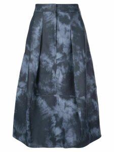 Tibi tie dye sculpted skirt - Blue