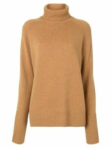 Lee Mathews turtleneck knit jumper - Brown