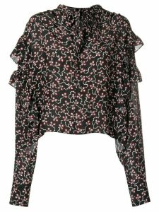 Isabel Marant Libel ruffle blouse - Black