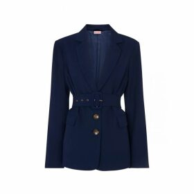 Kitri Courtney Navy Belted Blazer