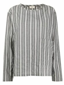 Barena front pocket striped blouse - Grey