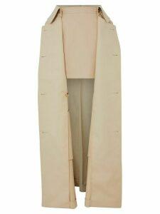 Burberry detachable trench coat detail mini-skirt - NEUTRALS
