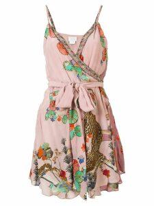 Camilla Ziba Ziba mini wrap dress - PINK