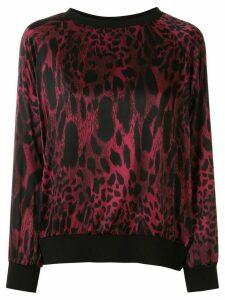Alexandre Vauthier leopard print top - Red