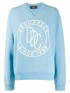 Dsquared2 logo stamp sweatshirt - Blue