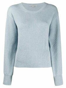 Stella McCartney cut-out detail ribbed jumper - Blue