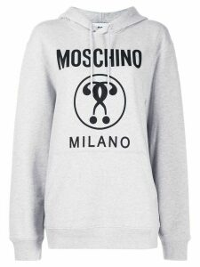 Moschino Double Question Mark hooded sweatshirt - Grey