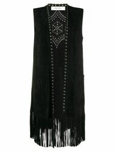 Golden Goose studded detailed fringe waistcoat - Black
