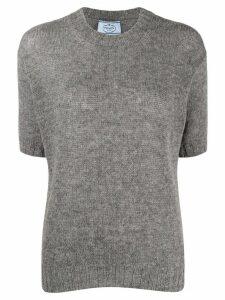 Prada crew neck short-sleeve jumper - Grey
