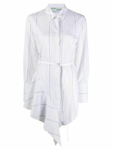 Off-White striped draped belted dress