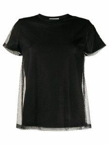 Moncler mesh overlay T-shirt - Black