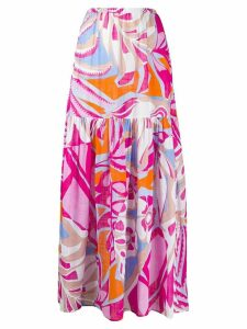 Emilio Pucci Samoa print maxi skirt - PINK