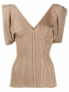 Chloé sleeveless metallic blouse - Brown