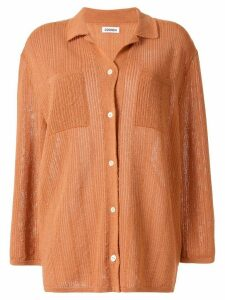 Coohem knitted paper yarn shirt - Brown