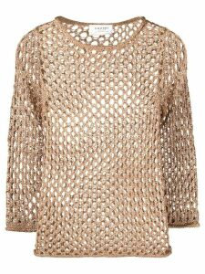 Snobby Sheep open-knit top - GOLD
