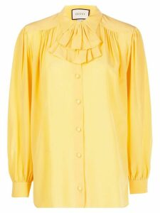 Gucci ruffle jabot blouse - Yellow