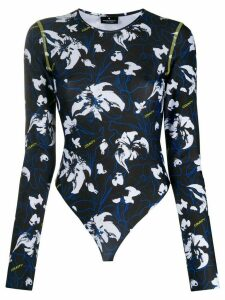 MARCELO BURLON COUNTY OF MILAN floral-print long-sleeve body - Black