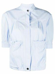 Salvatore Ferragamo puffed sleeves shirt - Blue