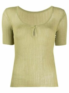 Jacquemus Loiza mesh top - Green