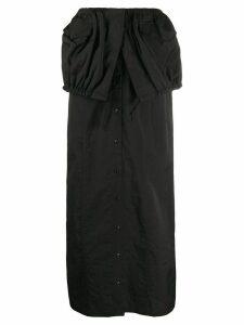 Jacquemus La Jupe Cueillette long skirt - Black