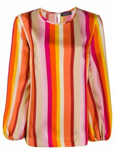 Gianluca Capannolo silk striped print blouse - ORANGE