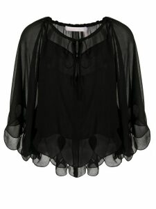 See by Chloé cropped sheer blouse - Black