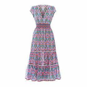 Paolita Lyra Ruffle Midi Dress