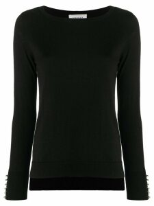 Snobby Sheep decorative button cuffs sweater - Black
